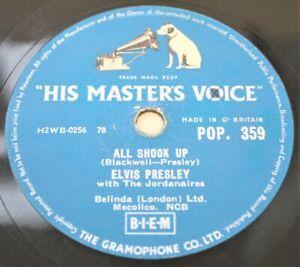 "ELVIS PRESLEY 'All Shook up' 1957 10"" 78rpm Single on HMV Records POP359 – H31"