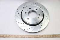 S-54153 Front Cross Drilled and Slotted Brake Rotor