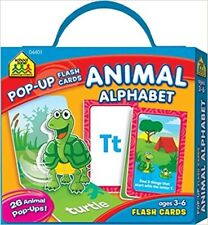 Animal Alphabet Pop-Up Flash Cards with Carrying Case