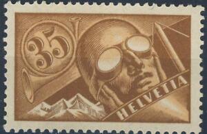 "1923 Switzerland MNH OG Airmail stamp ""Monoplane"" Michel #181, nice"