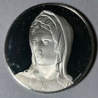 Head of Bruges Madonna, The Genius of Michelangelo 1.26oz Sterling Silver Medal
