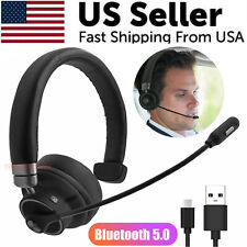 Bluetooth 5.0 Wireless Noise Cancelling Headphone Single Headset Truck Driver US