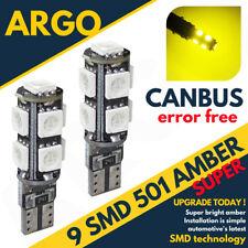 T10 194 168 W5w 501 5 Smd 5050 Led Car Wedge Side Light Lamp Bulb Amber Dc 12v