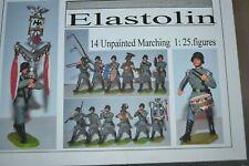 70mm Elastolin 14  hard Plastic figures Unpainted WWII German Band