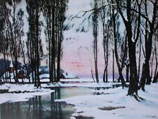 Gloriious Winter by A Courtraud vintage art