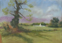John A. Case - 20th Century Pastel, English Countryside