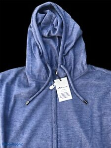 Peter Millar Cashmere Luxury Blend Full Zip Hoodie Sweater Mens Medium NWT $395
