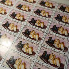 FEUILLE SHEET MONACO N°1232 x30 EXHIBITION CANINE CHIENS 1980 VALUE