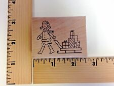 """Amuse """"Girl with Sled"""" 2-6133F - NEW"""