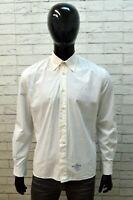 Camicia da Uomo Levi's Strauss  Taglia L Camicetta Bianca Maglia Shirt Man White