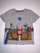 Carhartt Toddler Boy Gray Tool Belt T-shirt Size 2T