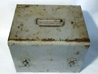 Vintage Metal Tool Box with Tools, Sockets, Wrenches, and More!