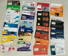 WORLD SIMcards - 40 Sim Card Cards from around the World