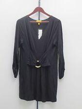 Liz Lange 3/4 Sleeve Ultimate Tunic Top - Large - Black