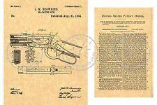 WINCHESTER/John BROWNING 1894 Lever Action Gun/Rifle PATENT Art Print PM#942