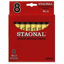 Crayola 20051 Staonal No. 2 Black Marking Wax Crayons 8 Pack NEW!