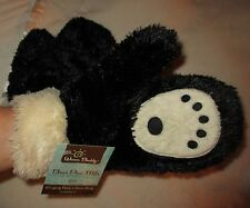 Mittens BLACK BEAR PAWS adult MENS or WOMENS plush costume driving gloves animal