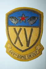 460TH BOMB GROUP PATCH 15TH AAF AIR FORCE A2 JACKET WW2 COPY BULLION WIRE