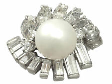 Pearl Platinum Fine Rings