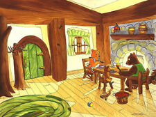 Goldilocks & the 3 bears, Watercolor Painting Published 1993, by Johan Klingler