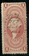 SCOTT# R76C PROBATE OF WILL, USED WITH GREAT 1864 CANCEL