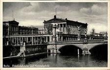 Berlin s/w Ansichtskarte ~1940 Friedrichs Brücke und National Galerie ungelaufen