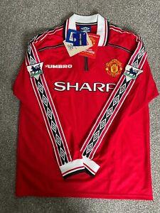 BNWT Manchester United 1998/99 shirt - Size large - Giggs - Treble - Umbro