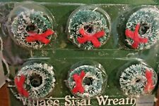 Dept 56~Set of 6 Christmas Village Sisal Wreaths~New in Package