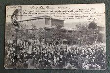 CPA. PARIS. 75 - Les Halles. 1903. Carte animée. Foule.