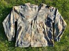 Jerzees Outdoors Realtree Camo Hunting Casual Long Sleeved T Shirt Sz LARGE