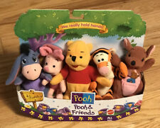 Disney's Winnie The Pooh POOH AND FRIENDS WE REALLY HOLD HANDS Plush Toys