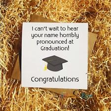 Graduation Funny Greetings Card Name Horribly Pronounced Exams
