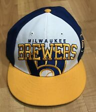 Milwaukee Brewers 47 Brand adjustable hat cap white/yellow/blue *Free Shipping*
