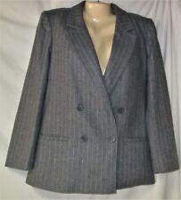 Junior's Gray Pinstripe Double Breasted Blazer Size 3 - 4