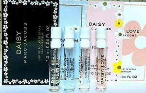 MARC JACOBS 4 Variety Samples Daisy, Daisy Eau So Fresh, Daisy Dream, Daisy Love