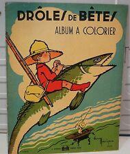 Grand album à colorier illustrateur: Gaston Maréchaux, n° 2376/2, poisson volant