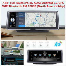 7.84''HD 4G Car Dash Dual Lens DVR Camera ADAS WiFi Bluetooth GPS Video Recorder