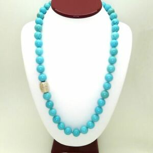 Simon Sebbag Sterling Silver Turquoise Beads Toggle Clasp Necklace NB114TQ24