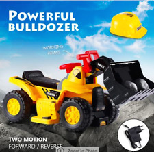 Kids Electric Ride on Bulldozer Loader Digger Tractor Car Excavator Children Toy