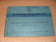 Ersatzteilliste Ersatzteilkatalog Mercedes-Benz Motor Typ OM 352 / 150-168 PS