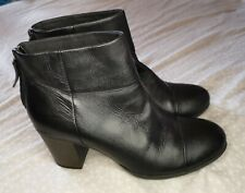 lovely CLARKS Collection Leather Shoes / Ankle Boots * size UK 6 D / EUR 39.5