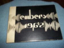 "1962 WAYNE TOWNSHIP HIGH SCHOOL YEARBOOK WAYNE NJ NEW JERSEY ""EMBERS"""