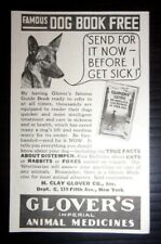 1932 Glover's Imperial Animal Medicines Advertisement New York