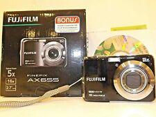 Fujifilm Finepix AX655 (Black) 16MP Digital Camera, Clean, Complete