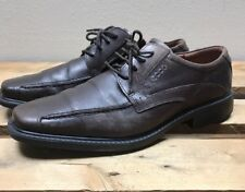 Ecco 35814 Men Brown Oxford Dress Shoe EUR 43 US 9-9.5 Pre Owned