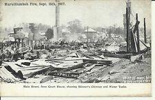1907 MURWILLUMBAH NSW FIRE MAIN ST FROM COURT HOUSE POSTCARD