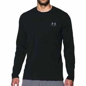 Under Armour Mens Sportswear Long-Sleeve Shirt Sweatshirt Black Top 1289909-001