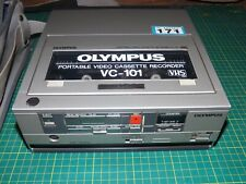 vintage OLYMPUS VC-101 compact portable VHS video recorder VCR
