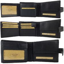 RFID PROTECTED Mens Genuine Full Grain Leather Wallet 100% Cowhide