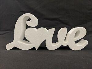 Small Love Sign/Letters - Plain High Density Polystyrene - Wedding/Event Ideas